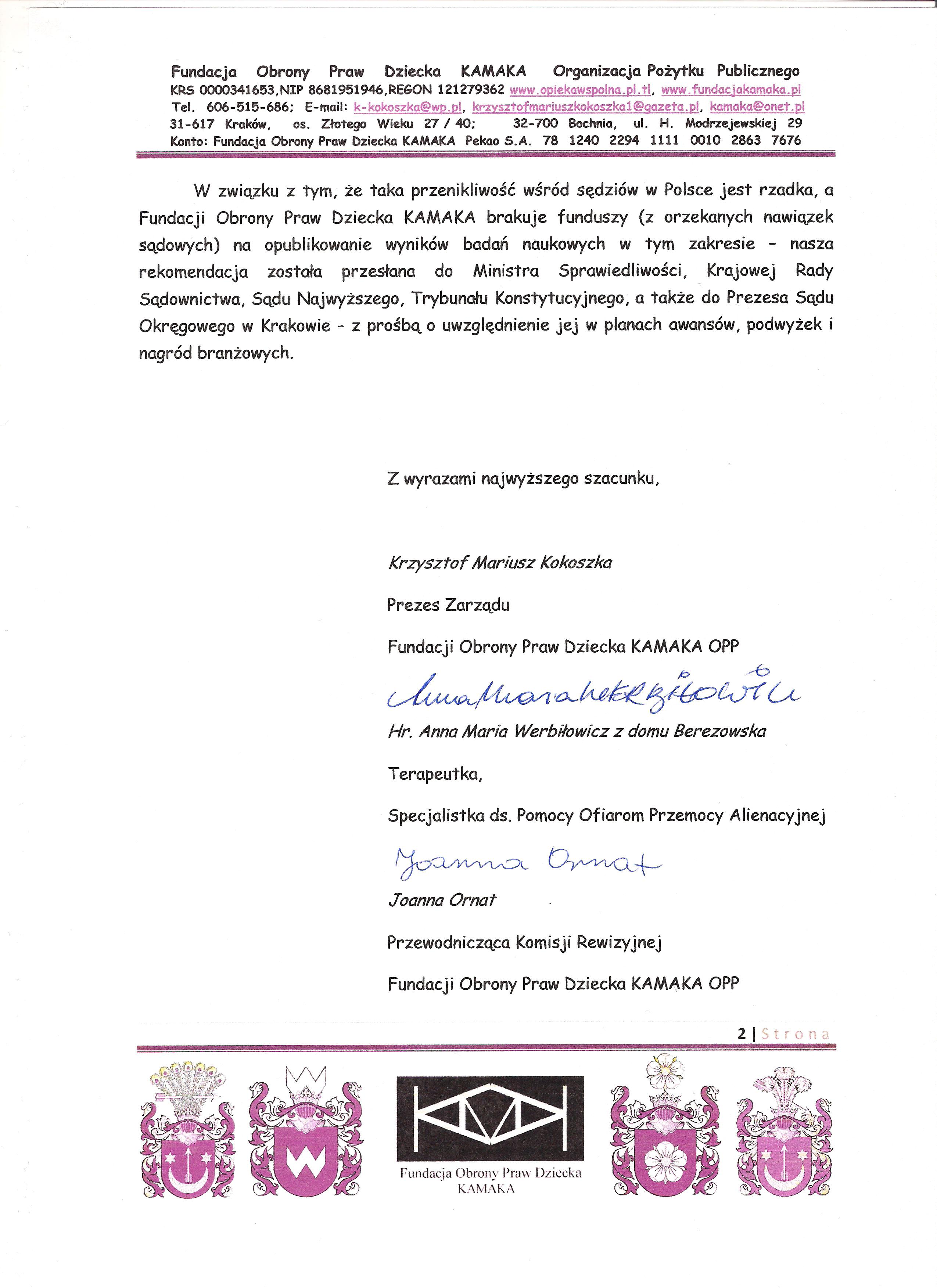 Sędzia Lidia Haj z Krakowa str 2