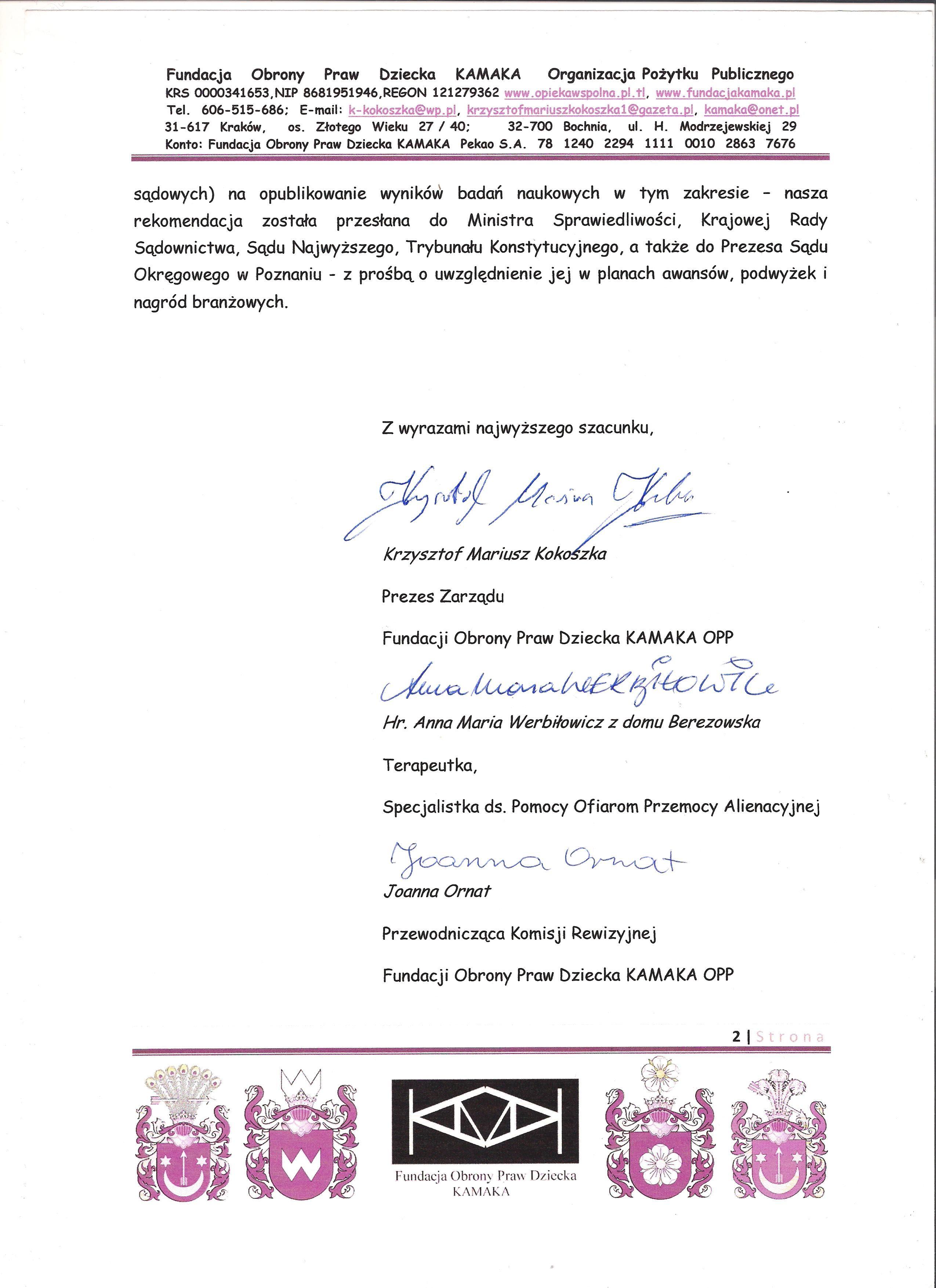 Sędzia Tamara Grzelak z Poznania str 2